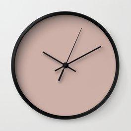 Light Pink - Pastel Rose  Solid Color Parable to Valspar Damask Dunes 1006-10B Wall Clock
