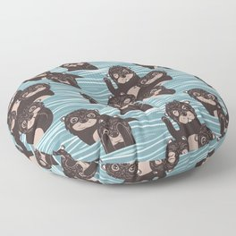 Otters dazzling the audience Floor Pillow