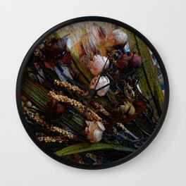 Sweetheart Roses, Contemporary Art, Floral Art Wall Clock