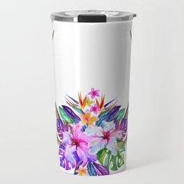 Floral Horn Travel Mug