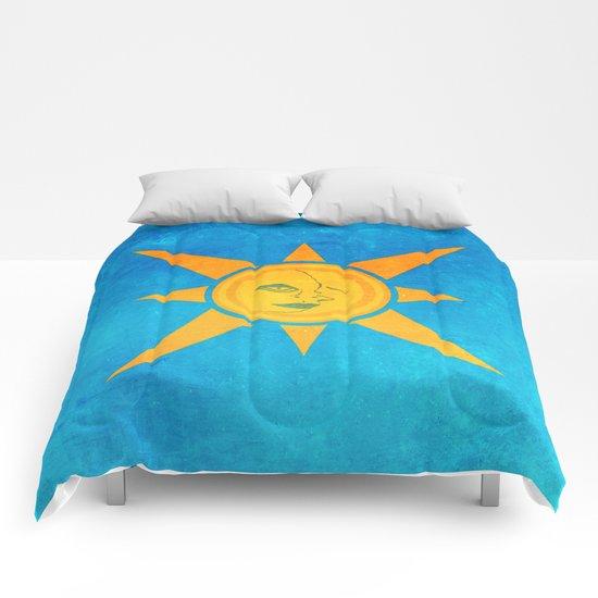 Sun Shining and Moon Sleeping Comforters