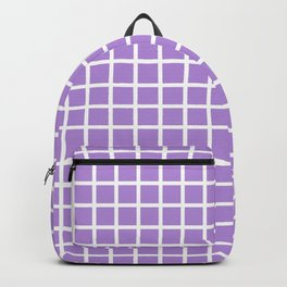 Grid (White & Lavender Pattern) Backpack
