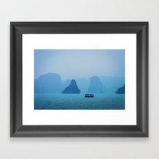 Ha Long Blues Framed Art Print