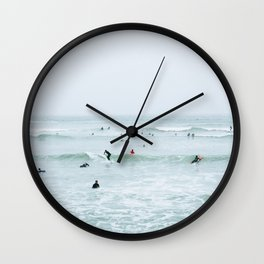 Tiny Surfers Lima, Peru 2 Wall Clock