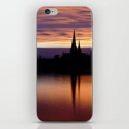 Sunset Reflection At The Lichfield Cathedral iPhone Skin