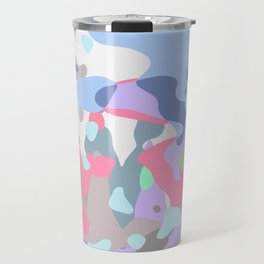 Candy Camo Blobs Travel Mug