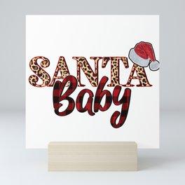 Santa Baby Hat Print Mini Art Print
