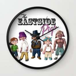 The Adventures of the Eastside Pigs Wall Clock