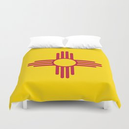 Flag of New Mexico - Authentic High Quality Image Duvet Cover