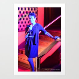 Carol In Blue Art Print