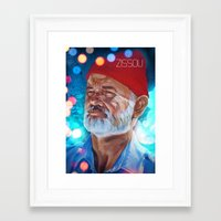 zissou Framed Art Prints featuring Zissou by The Notorious Gasoline Company