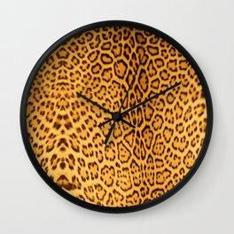 Brown Beige Leopard Animal Print Wall Clock
