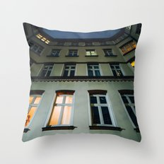 Houses at night Throw Pillow