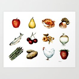 Some More Food Art Print