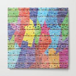 Seamless Colorful Geometric Pattern XXVIII Metal Print