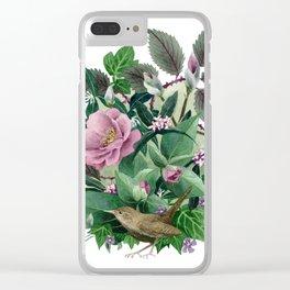 Garden Wren Clear iPhone Case