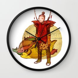fisher muzh Wall Clock