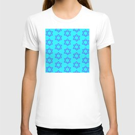 Hanukkah Sacred Star Of David Pattern T-shirt