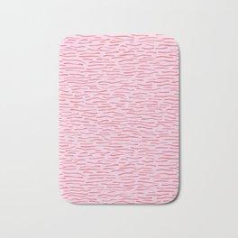 Waves Lines Texture Seamless Vector Pattern Pink Bath Mat
