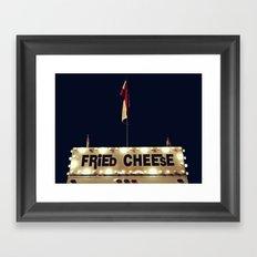 Fried Cheese Framed Art Print