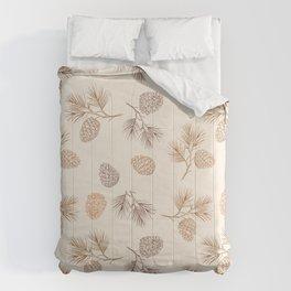 Seasonal Pine Cones Fir Pattern Comforters