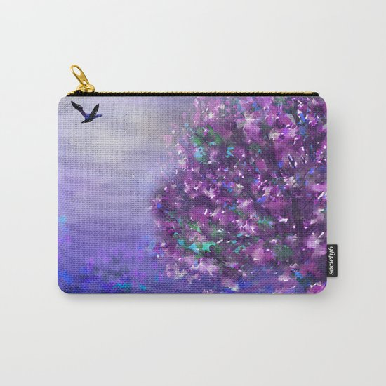 Autumn Tree in Blue and Purple Carry-All Pouch