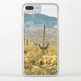 Desert Cactus Clear iPhone Case