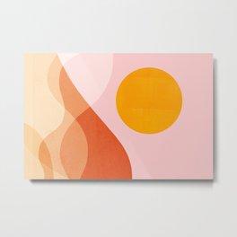 Abstraction_Mountains_SUN_Beach_Ocean_Minimalism_001 Metal Print