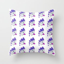 Winky drink Throw Pillow