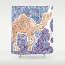 Kaleidoscope Camel Shower Curtain