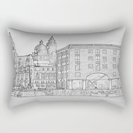 Royal Albert Dock, Liverpool (Digital Art) Rectangular Pillow