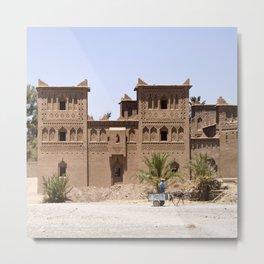 Kasbah in Morocco Metal Print