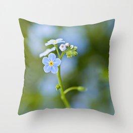Blue ladies Throw Pillow