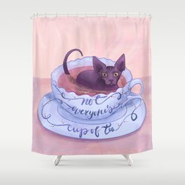 Not Everone's Cup Of Tea - Sphynx Cat - Part 2 Shower Curtain