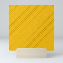 Selective Yellow Crisscross Mini Art Print