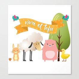 Viva el tofu Canvas Print