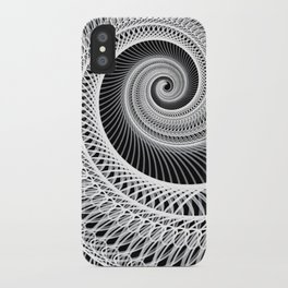 Black And White Skeletal Shell  iPhone Case