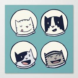 CatStronauts Team Heads Canvas Print