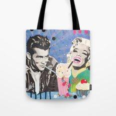 Marilyn vs James D Tote Bag