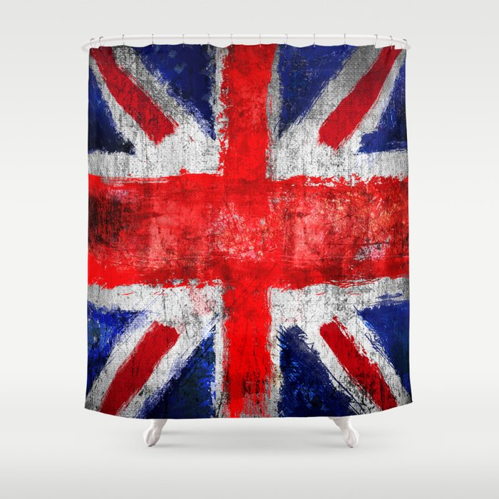 Union Jack - UK Shower Curtain by hipogrifos