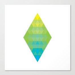 Yellow Cyan Diamond Gradient Canvas Print