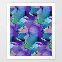feeling blue together Art Print