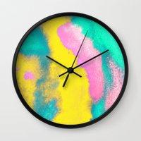 florida Wall Clocks featuring Florida by elena + stephann
