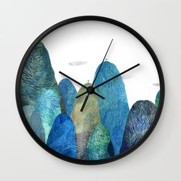 the moutains are comming Wall Clock