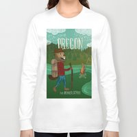 oregon Long Sleeve T-shirts featuring Oregon by Santiago Uceda
