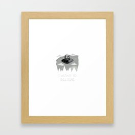 I Want To Believe in Kang and Kodos Framed Art Print