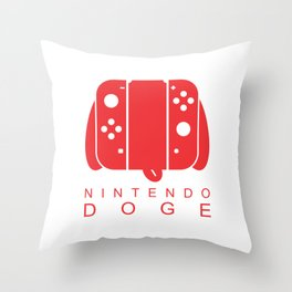 Nintendo Doge Throw Pillow