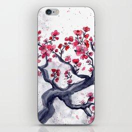 Japanese Plum (ume) Watercolour iPhone Skin