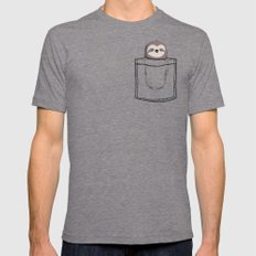 My Sleepy Pet Mens Fitted Tee Tri-Grey MEDIUM