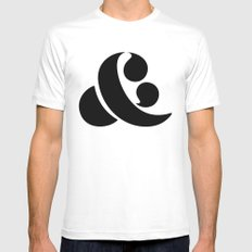 Ampersand MEDIUM White Mens Fitted Tee